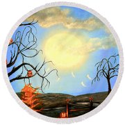 Halloween Night Two Round Beach Towel