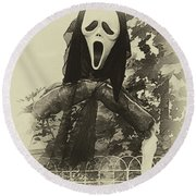 Halloween No 1 - The Scream  Round Beach Towel