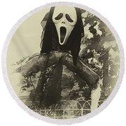 Halloween No 1 - The Scream  Round Beach Towel