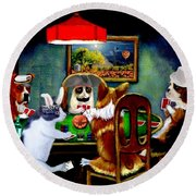 Halloween Poker Round Beach Towel