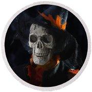 Halloween Skull Round Beach Towel