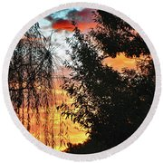 Halloween Sunrise 2015 Round Beach Towel