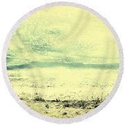 Hallucination On A Beach Round Beach Towel