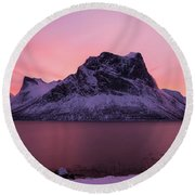 Halo In Pink Round Beach Towel