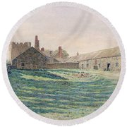 Halton Castle Round Beach Towel