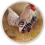 Hamburg Rooster Round Beach Towel
