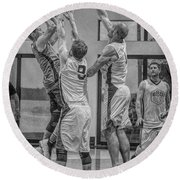 Round Beach Towel featuring the photograph Hamlin Elevating Over Defenders by Ronald Santini