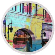 Round Beach Towel featuring the photograph Hamm Building St. Paul by Susan Stone