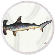 Hammerhead Shark Round Beach Towel