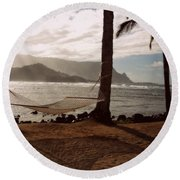 Hammock Shadow Round Beach Towel