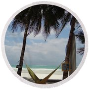 Hammock Time Round Beach Towel