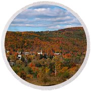 Hammondsport Panorama Round Beach Towel