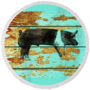 Hampshire Boar 1 Round Beach Towel