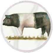 Hampshire Pig Round Beach Towel