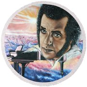 Hampton Hawes -jazz Pianist Round Beach Towel