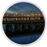 Round Beach Towel featuring the photograph Hampton Roads Bridge Tunnel by Jerry Gammon