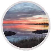 Hampton Sunrise Round Beach Towel
