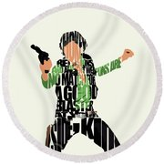 Han Solo From Star Wars Round Beach Towel