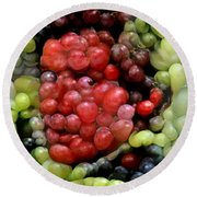 Round Beach Towel featuring the photograph Han Solo In Grapes by Paul Van Scott