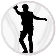 Han Solo Star Wars Tee Round Beach Towel