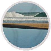 Hanakapiai Beach 1287b Round Beach Towel