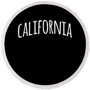 Hand California Round Beach Towel