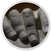 Hand Of Lincoln Round Beach Towel