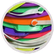 Handles Round Beach Towel