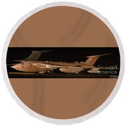 Round Beach Towel featuring the photograph Handley Page Victor K2 by Tim Beach