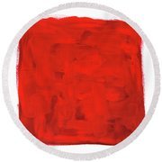Handmade Vibrant Abstract Oil Painting Round Beach Towel