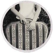 Round Beach Towel featuring the photograph Hands #2203 by Andrey  Godyaykin