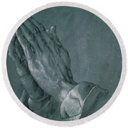 Hands Of An Apostle Round Beach Towel
