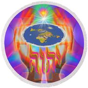 Hands Of Creation Round Beach Towel
