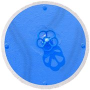 Handwheel - Blue Round Beach Towel