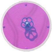 Handwheel - Pink Round Beach Towel