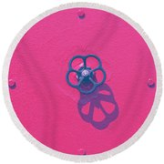 Handwheel - Red Round Beach Towel