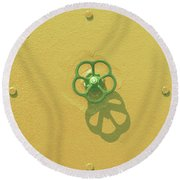 Handwheel - Yellow Round Beach Towel