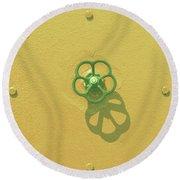 Handwheel - Yellow Round Beach Towel