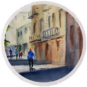 Hang Ah Alley Round Beach Towel by Tom Simmons