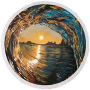 Hang Ten In Tofino Round Beach Towel
