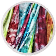 Hanging Color Round Beach Towel