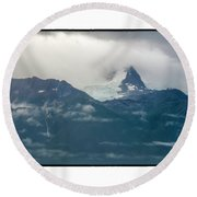 Hanging Glacier Round Beach Towel