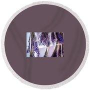 Hanging Lavender Round Beach Towel