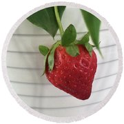 Hanging Strawberry Round Beach Towel