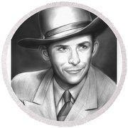 Hank Williams Round Beach Towel