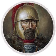 Hannibal Barca Round Beach Towel by Arturas Slapsys