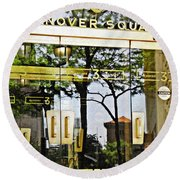 Hanover Square Round Beach Towel by Sarah Loft