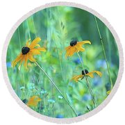 Happiness Is In The Meadows - 111 Round Beach Towel