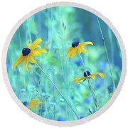 Happiness Is In The Meadows - A111 Round Beach Towel