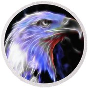 Happy 4th Of July Round Beach Towel